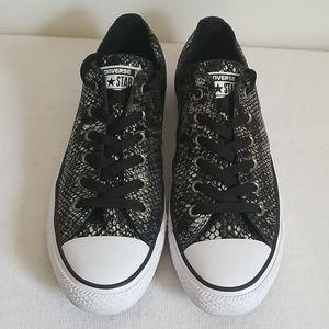 Converse Black Reptile Print Low Top Sneaker